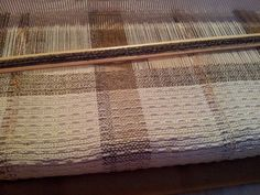 Weaving on kromski harp loom