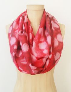 This silk shibori infinity scarf screams Happy Valentines Day!  So soft and so easy to wear!  This scarf will add instant style to any outfit!