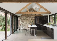 Luminous barn conversion in the English countryside