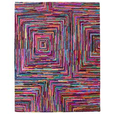 Brilliant Ribbon Blocks Rug (8' x 10') | Overstock.com Shopping - Great Deals on 7x9 - 10x14 Rugs