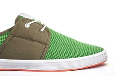 Fish n Chips. Mens Sneakers. Mens Shoes. Spam 2 Check Canvas. Buy Now: http://www.baselondon.com/spam-2-check-canvas-green