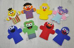 Sesame+Street+Finger+Puppets+por+LittleFingersbyEM+en+Etsy