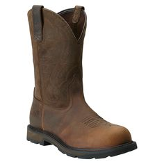 buy popular 1b302 dacc5 Ariat Men s Groundbreaker Pull-On ST Work Boots Puntera De Acero, Botas De  Vaquero
