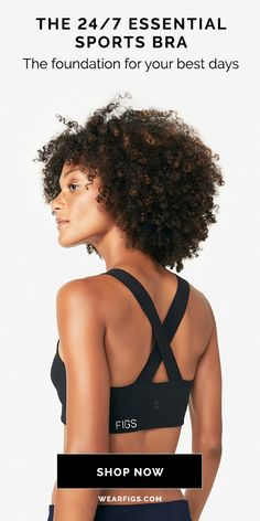 Meet your new favorite sports bra and leggings. Made from our signature Moss Jersey stretch poly-spandex blend and constructed with a flattering high-rise, wide waistband and micro-performance coverstitching, our High-Rise Derma-Lite Leggings move with yo Curly Hair Styles, Natural Hair Styles, Medical Uniforms, Big Curls, Afro Punk, Ombre Hair Color, African American Hairstyles, She Was Beautiful, Inspiration For Kids