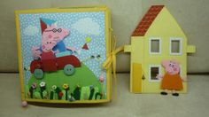 Peppa Pig quiet book with removable house
