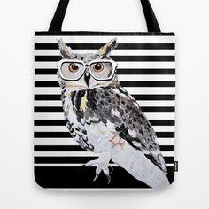 Nerdy Owl Tote Bag