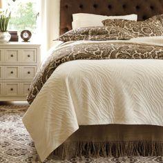 ...a subtle zebra matelasse coverlet for my master bed