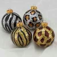 Animal Print Christmas Tree Ornaments