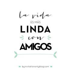 By Invitation Only   {inspirational Monday} Ideas para celebrar el Dia del Amigo   http://byinvitationonlyblog.com