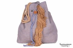 FREE SHIPPINGHandwoven cotton bucket bag lilac by HandwovenByT