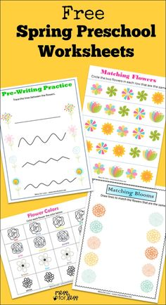 Free Spring Preschool Worksheets | Mess For Less