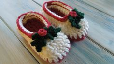 (crochet) How To - Crochet Simple Chunky Baby Booties, xmas, but you can adapt. Thanks so for great tutorial, love them! xox