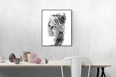 Brigitte Bardot printable wall art -- SVG and PNG files included -- Free Commercial Use -- Poster size digital print -- Modern art posters by DigitalCitizen on Etsy