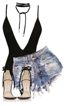 Untitled #1084 by daisystylist on Polyvore featuring polyvore, fashion, style, Manolo Blahnik and clothing