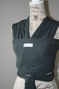 Charcoal Hugseez, soft baby wrap carrier, baby carrier, baby wrap