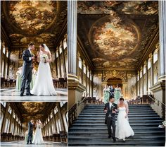 Wedding at the Painted Hall, Old Royal Naval College