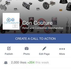 "Our 3rd and final day @tampabaycomiccon and we hit 2,000 Facebook ""likes!"" #tampabaycomiccon #concouture #likeourfacebookpage"