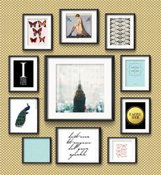 In this Frame Game: Grand Art Deco Charm for a Gatsby Fan, I curate a luxurious and decadent gallery wall for a 1920s and fashion aficionado.