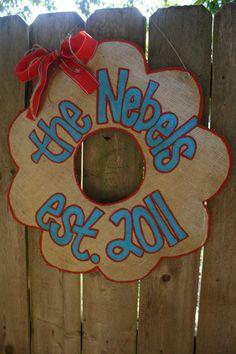 name wreath