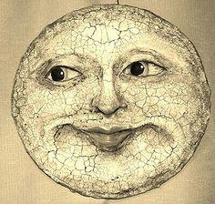 Any moon face will do! Sun Moon Stars, Sun And Stars, Luna Moon, Moon Dance, Vintage Moon, Moon Shadow, Moon Pictures, Good Night Moon, Sun Art