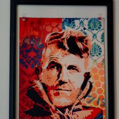 A new piece from Brad Novak. Each piece is stenciled so are different. We only have two in store at The Poi Room. Way cool take we think on a great image of NZ's great man Sir Edmund Hillary