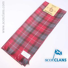 Tartan wool scarf in Fraser Dress Weathered Tartan - available from ScotClans