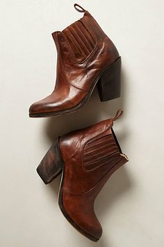 leather booties / anthropologie
