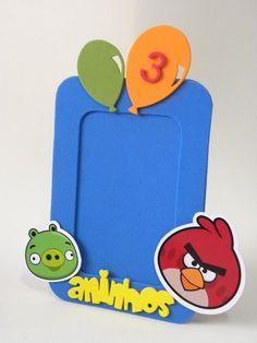 Porta Retrato foto 10x15cm Angry Birds-Cortes para Montar  www.petilola.com.br