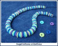 SSR0274 Collier en petites rondelles crochetées By Inspirations créatives