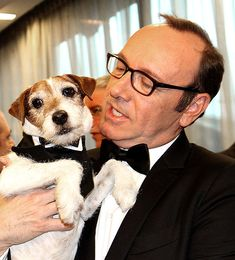Famous people and their pets: Kevin Spacey and his dog. Toy Story, John Rambo, Fathers Day Pictures, Celebrity Dogs, Kevin Spacey, Dog Books, Jack Russell Terrier, Animal Photography, Cute Couples