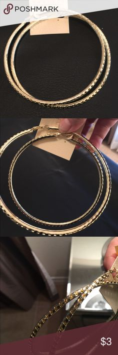 Gold hoops Gold hoop earrings extra large and super 70's boho Jewelry Earrings