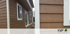 Bringing a timeless, natural beauty to any architectural style, with a beautiful contrast between two tones. Engineered Wood Siding, Trim Board, Rustic Colors, Wood Trim, Small Homes, Recycled Wood, Windows And Doors, Cabins, Home Remodeling