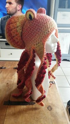 Crochet octopus hat