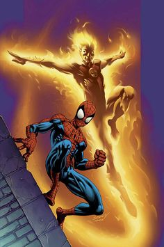 Spider-Man and the Human Torch By Mark Bagley
