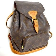 Auth Louis Vuitton Monogram Montsouris mm M51136 Backpack Purse Brown | eBay