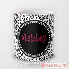 Personalized mug cup designed PinkMugNY  Cheetah by PinkMugNY, $11.95