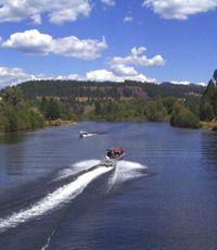 Boating on the Coeur d'Alene River near Harrison, idaho www.southlakecda.com