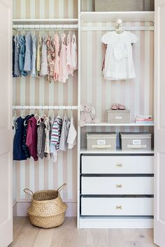 Nursery organization and a simpler, more streamlined routine can be yours with these eight nursery closet ideas. Bedroom Built Ins, Master Bedroom Closet, Home Design, Nursery Closet Organization, Organization Ideas, Baby Closet Storage, Attic Storage, Smart Storage, Storage Ideas
