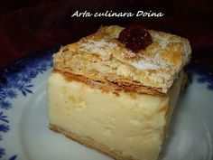 Cremșnit ca la mama acasa (cremeș) Sweets Recipes, No Bake Desserts, My Recipes, Cake Recipes, Cooking Recipes, Romanian Desserts, Romanian Food, Romanian Recipes, Delish Com