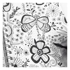 """News – Tagged """"creative process"""" – julie hamilton Doodle Designs, Doodle Patterns, Art Patterns, Zentangle Patterns, Doodle Drawings, Drawing Sketches, Drawing Ideas, Doodle Art Journals, Flower Doodles"""
