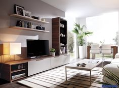 Built in tv wall wall unit ideas modern media wall units design wall units for living . Built In Wall Units, Modern Wall Units, Modern Tv, Home Living Room, Living Room Decor, Living Area, Small Living, Wall Storage Systems, Tv Storage