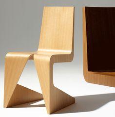 Wooden restaurant chair LRC by @lensveltfur  design Wiel Arets