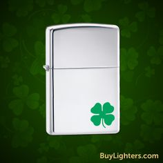 This is the perfect lighter for St. Patrick's Day. Get a Bit o' Luck Zippo from BuyLighters.com!