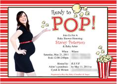 Popcorn baby shower invitation baby shower pinterest popcorn popcorn baby shower filmwisefo