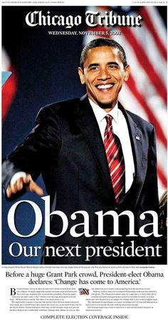 Obama elected president, 2008.