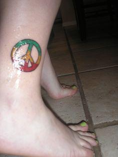 Rasta Peace tattoo!