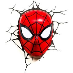 Panoware Light FX Marvel Mini Deco Wall LED Night Light with Crack Wall Sticker, Spiderman 3d Deco Light, 3d Light, Light Art, Led Decoration, Book Decorations, Art Decor, Room Decor, Iron Man, Led Wall Lights