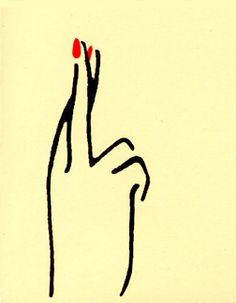 Fingers Crossed // Hand Printed Card