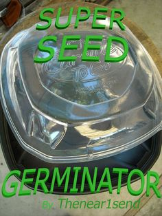 Picture of AWESOME AppleBee's Carside To-Go Container Seed Germinator / Starter!!!!!!