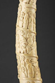 Finch & Co - Carved African Loango Coast Angola Ivory Tusk
